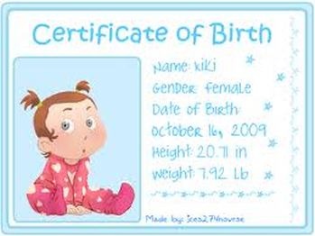 Birth Certificates - SHANNENGRIFFITHS' BABYDOW SERVICES!